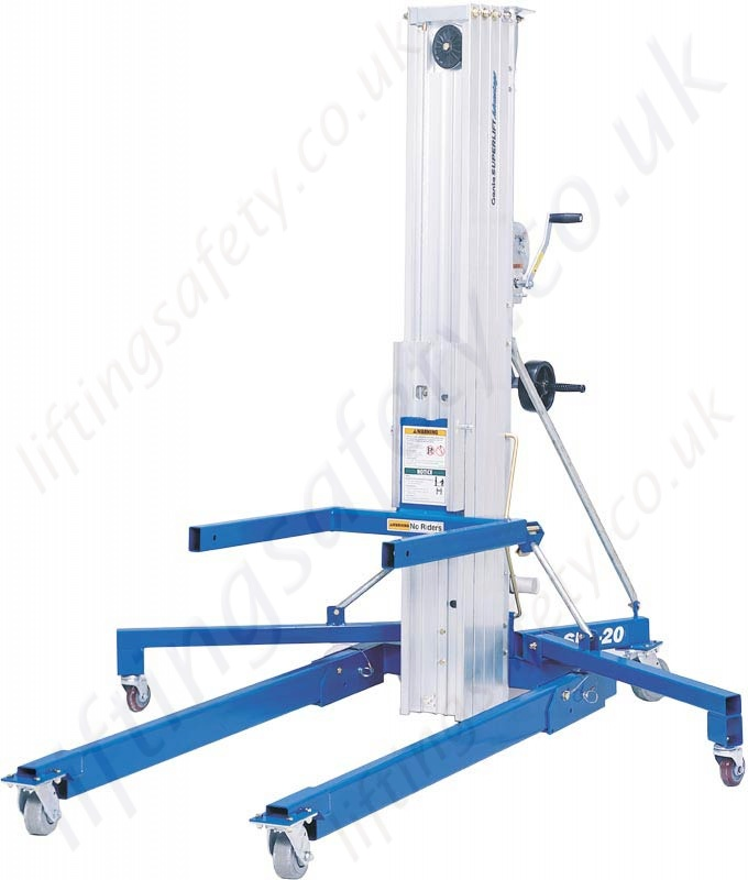 genie superlift sla materials lifter with standard and