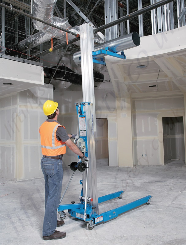 Material Lift Safety : Genie superlift sla materials lifter with standard and