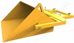 "Long Reach Easy Manual Tipping ""Multi-Scoop"" Fork Lift Truck Bucket Attachment. 200 litre to 500 litres- Range from 1500kg to 3000kg"