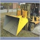 Fork truck Carriage Mounted Hydraulic Scoop / Bucket Attachment. Connects in to Truck Hydraulic Circuit. 200 litre to 1000 litre - Range from 1500kg to 2500kg