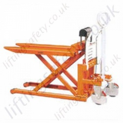 Skid Lifter High Lift Pallet Truck. Manual Lift and Travel. 830mm Lift Height. Forks 526mm x 1115mm - 1000kg