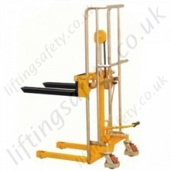 Mini Hand Stacker Truck - 400kg Lifting Capacity, 1500mm Lift Height
