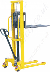 Hand Stacker Truck - 1000kg Lifting Capacities, 1500mm Lift Height