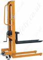 Winch Stacker Truck - 250kg to 1000kg Lifting Capacities. 1560mm Lift Height.