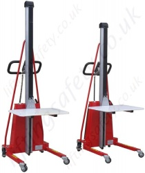 Electric Powered Lift Work Positioners - Capacities up to 150kg, & up to 1700mm Lift Height