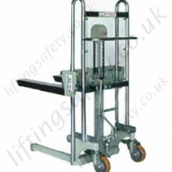 Mini Manual Stacker Truck - 400kg Lifting Capacities. 1200mm, 1500mm or 1700mm Lift Height.