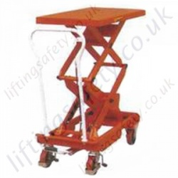 Economy Mobile Scissor Lift Tables - 150kg to 500kg Lifting Capacities, 755mm to 1575mm Lifting Height (5 Options)