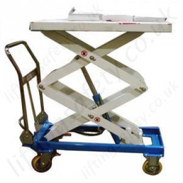 LiftingSafety Mobile Scissor Lift Table - 150kg to 500kg