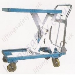 LiftingSafety Mobile Scissor Lift Table - 150kg to 500kg Lifting Capacities, 760mm to 1030mm Lifting Height (5 options)