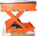 Raised Side View Of Scissor Lift Table