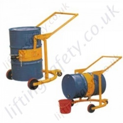 Economy Manually Manoeuvred Mobile Drum Carrier. Floor Operated with Lever Action Lifting  - 364kg