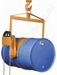 "Economy Imported Overhead Crane Mounted ""Geared Rotation"" Drum Lifter and Rotator"