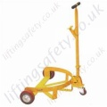 Economy Manually Manoeuvred Floor Operated Low Profile Drum Caddy - 500kg Capacity