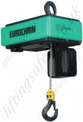 Verlinde Eurochain VL INOX Electric Hook Suspended Hoist - Range from 60kg to 1250kg