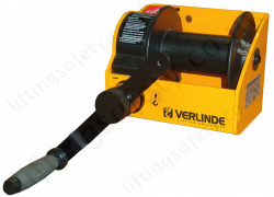 Verlinde MV Worm Declutchable Drum Geared Hand Winch - Range from 0.25t to 3.0t