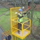 Fork Mounted Man Riding Access Platform Attachment. Three Gate Options - 1 or 2 Person Options