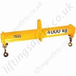 "LiftingSafety 2 Point Bespoke Lifting Beams. ""Fixed Length"". Capacities and Sizes To Customers Specification"