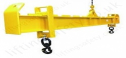 "LiftingSafety 2 Point Bespoke Lifting Beams. ""Length Adjustable"" Load Suspension Distance. Capacities and Sizes To Customers Specification"