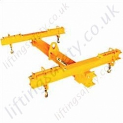 Adjustable 4 Point Lifting Beam, SWL and Dimension To Your Spec - Range from 1000kg to 10,000kg