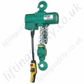 "JDN ""Profi TI"" Heavy Duty Hook Suspended Pneumatic Chain Hoist - Range from 250kg to 100,000kg"