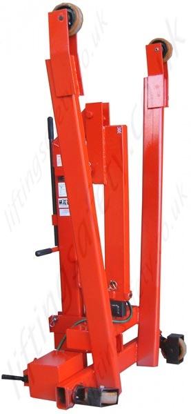 Manual Heavy Duty Folding Floor Crane With Hinged Legs