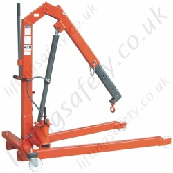 MANUAL - Heavy Duty Folding Floor Crane (With Hinged legs) - Range to 2000kg