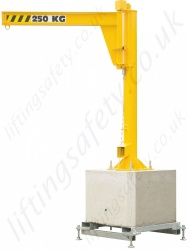 Portable Jib Crane, 'H' section lifting Beam - Range from 125kg to 500kg
