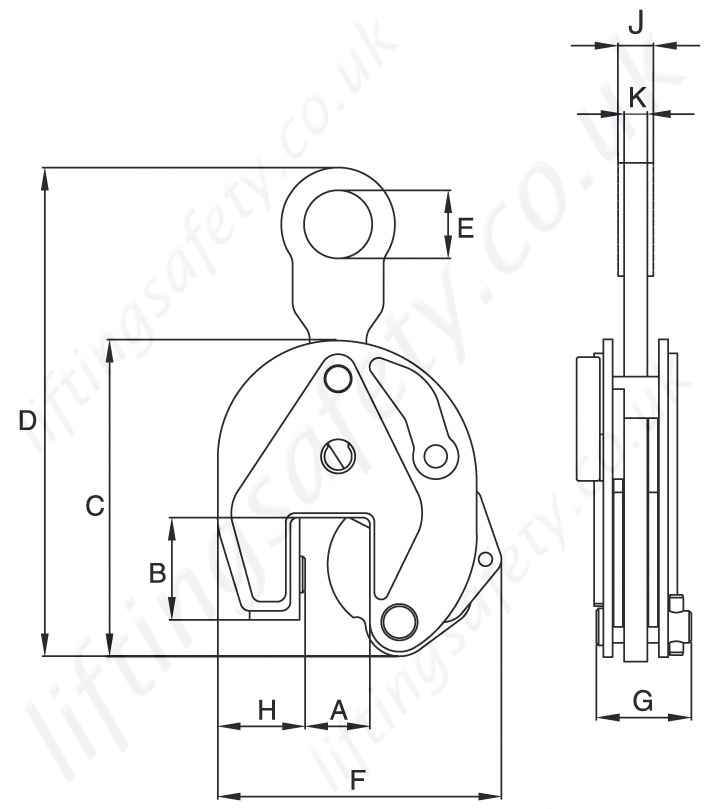 Crosby Ip10 Clamp Dimensions