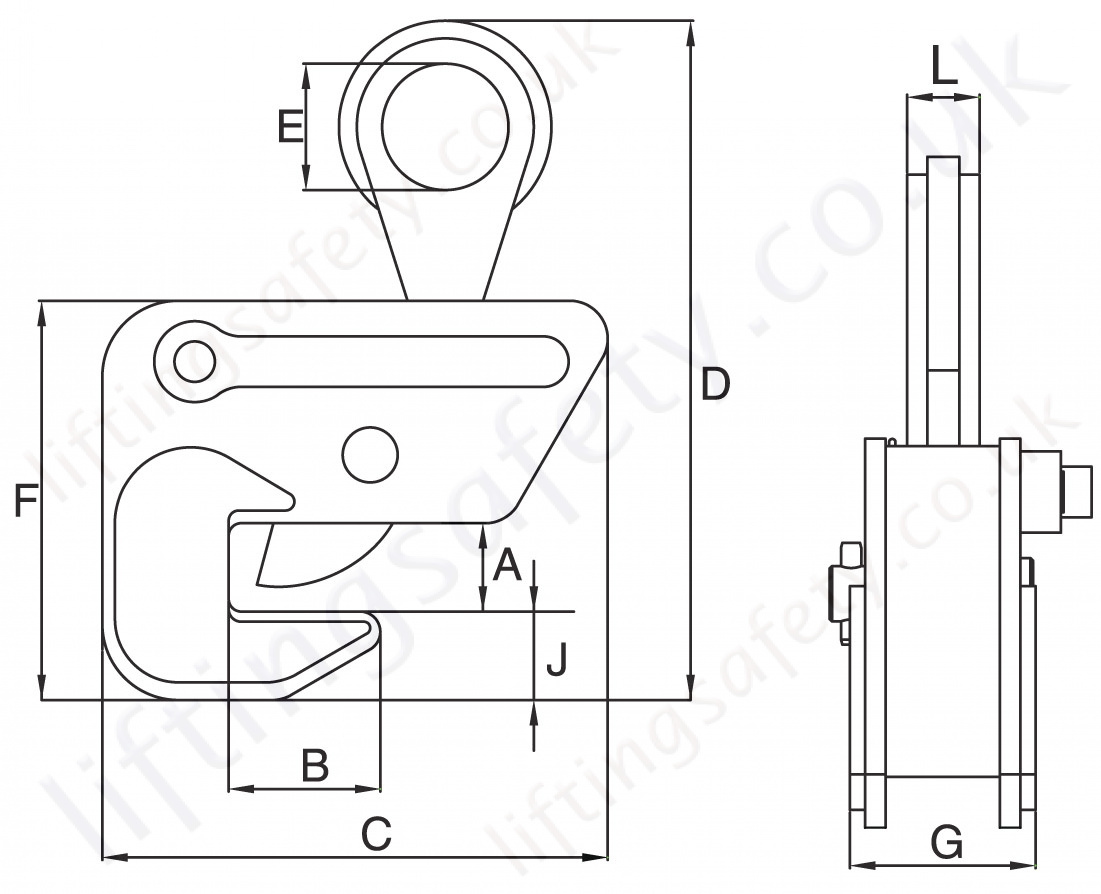 Crosby Ipbhz Lifting Clamp Dimensions