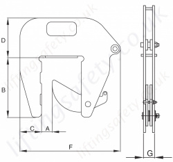 Crosby Ipcc Pipe Section Vertical Lifting Clamp Dimensions