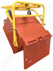 Large Wheelie Bin Handler Fork Lift Truck Attachment - 500kg or 1100 Litre
