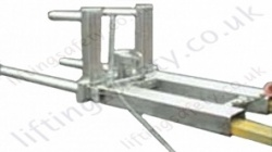 Fork truck Mounted Stainless Drum Positioner Attachment for One or Two Drums  - 400kg or 800kg