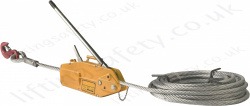 "LiftingSafety ""High Capacity"" Cable Puller Wire Rope Hoist for Lifting and Pulling Applications - Range from 800kg to 5350kg (Lifting capacity)"