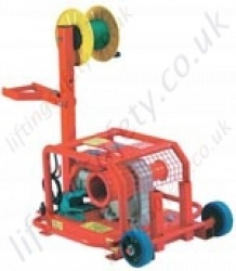 LiftingSafety Electric Capstan Pulling Winch. Twin Drums at 1500kg and 2500kg Line Pull, 110v or 240v options
