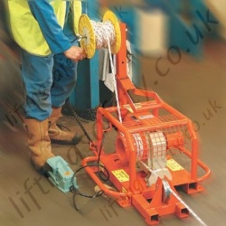 Liftingsafety Electric Capstan Pulling Winch Twin Drums