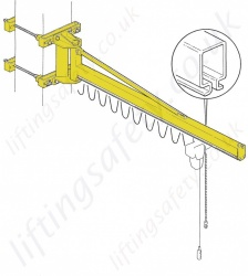 Donati GBP C OB 'C' Profile Wall Fixed Overbraced jib Crane - Range from 63kg  to 1000kg