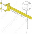 Donati GBP UB 'I' Profile Wall Mounted Under Braced Jib Crane - Range from 63kg to 2000kg