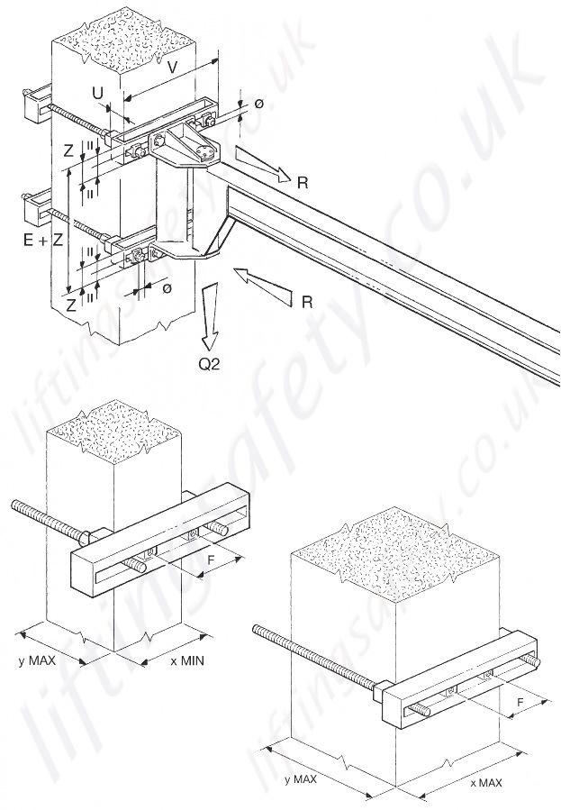 Jib Crane Mounting Brackets : Donati gbp ob quot i profile wall fixed overbraced jib crane