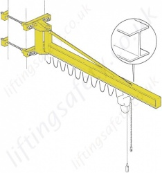 "Donati GBP OB ""I' Profile Wall Fixed Overbraced jib Crane - Range from 125kg to 2000kg"