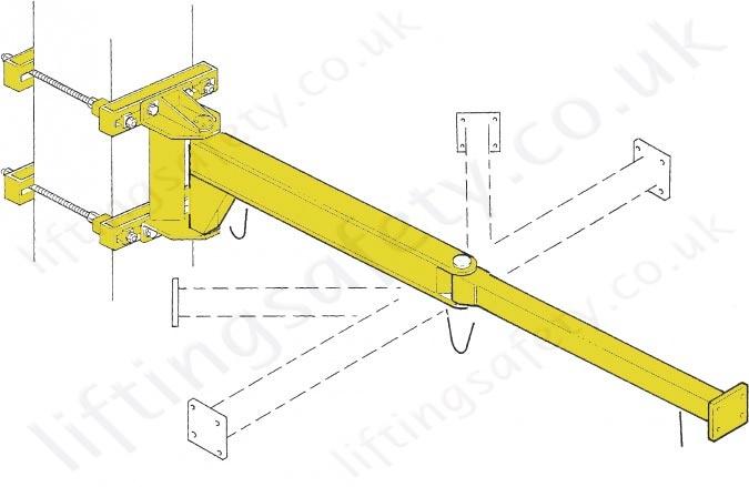 Jib Crane Mounting Brackets : Donati mbb wall mount articulating manipulator jib kg