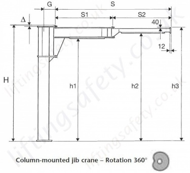 CBB Articulating Manipulator Jib Dimensional Drawing