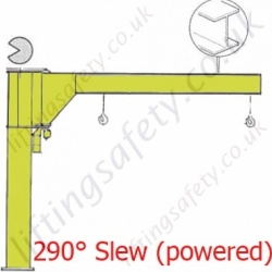 Donati CBE UB 'I' profile Under Braced Power Slew Jib - upto 2000kg SWL