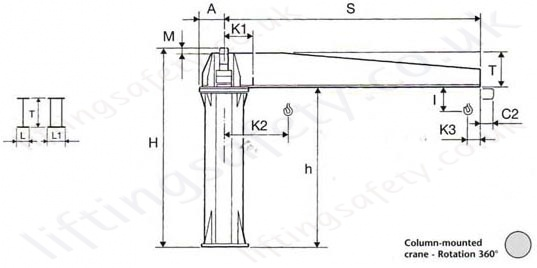 power slew Jib crane - gbr