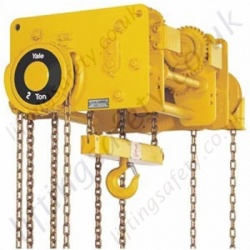 Yale VN Compact Trolley Hoist (Push and Geared Travel) - Range from 1500kg to 24,000kg
