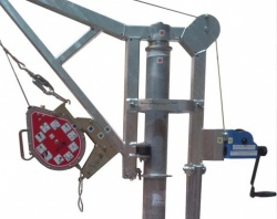 Section from Materials and Man-riding Davit Arm